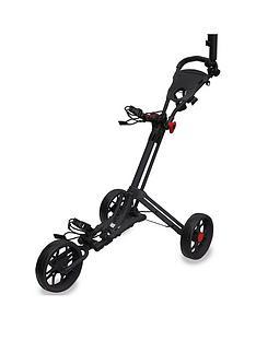 eze-glide-smart-fold-trolley-with-wheel-cover-amp-umbrella-holder-black