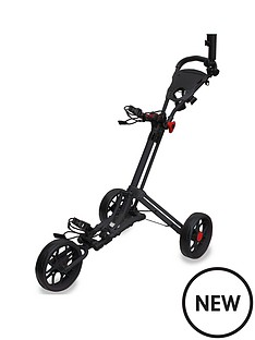 eze-glide-smart-fold-trolley-with-wheel-cover-amp-umbrella-holder-black