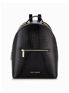 ted-baker-crock-embossed-backpack