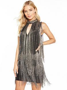 v-by-very-fringed-embellished-mini-dress