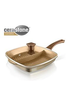 tower-cerastone-2-in-1-cast-aluminium-grill-pan-gold