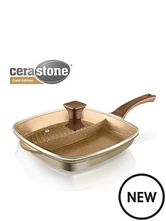 tower-cerastone-2-in-1-cast-aluminium-grill-pan-gold
