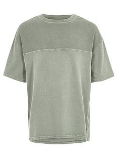 river-island-boys-khaki-wash-waffle-insert-t-shirt