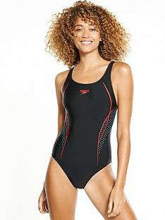 speedo-start-shift-placement-powerback-swimsuit-blackred
