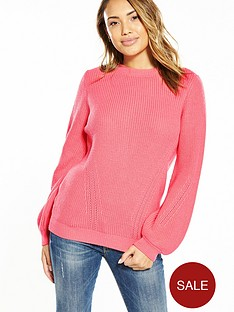 v-by-very-balloon-sleeve-open-back-jumper