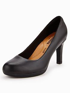 261917579abd Clarks Wide Fit Clarks Adriel Viola Heeled Shoe
