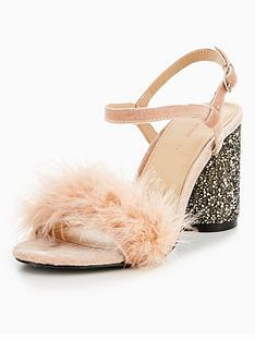 v-by-very-kayla-feather-glitter-heel-sandal-nude