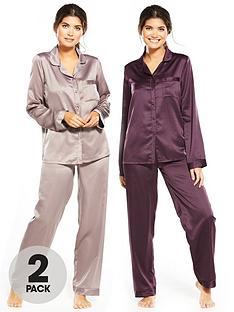 v-by-very-2-pack-long-sleeve-satin-pyjamas-minkplum