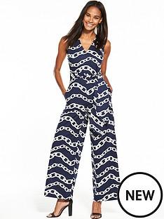 warehouse-chain-print-jumpsuit