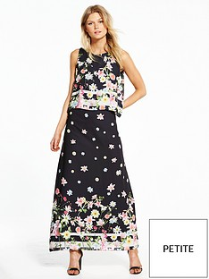 wallis-petite-botanical-stripe-border-maxi-dress