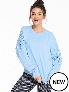 michelle-keegan-drawcord-sleeve-detail-sweat