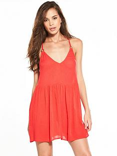 river-island-coral-ring-back-cami-dress