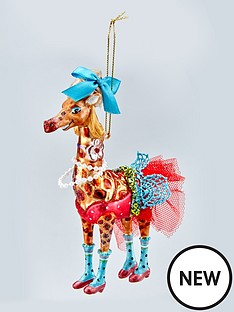 gisela-graham-painted-glass-giraffe-christmas-tree-decoration