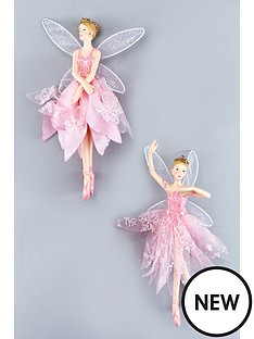gisela-graham-fairy-ballerina-hanging-tree-decorations-set-of-2