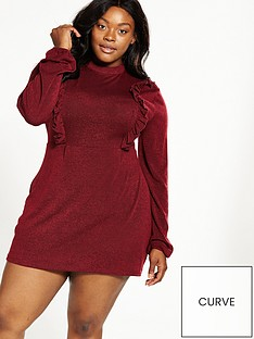 ax-paris-curve-knit-frill-day-dress-wine