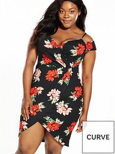 ax-paris-curve-cold-shoulder-wrap-top-dress
