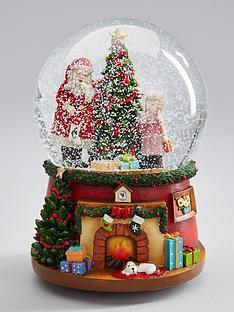 gisela-graham-santa-and-child-music-snow-globe-christmas-ornament