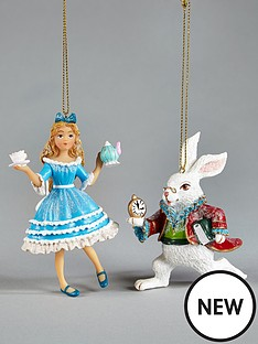 gisela-graham-gisela-2-pack-alice-in-wonderland-tree-decs-alicerabbit