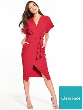 fb9d094fade Closet Closet Wrap Tie Waist Dress