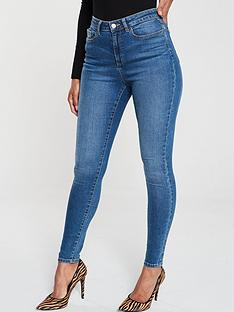c54694f0f V by Very Florence High Rise Skinny Jeans - Mid Wash