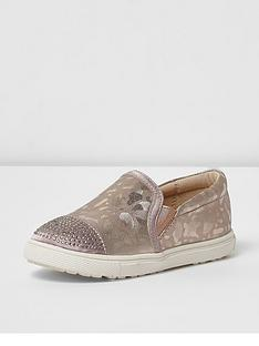 river-island-river-island-mini-girls-plimsoll-diamante-toe