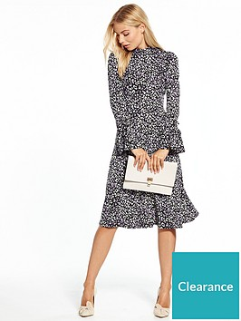 v-by-very-jersey-printed-fluted-sleeve-midi-dress