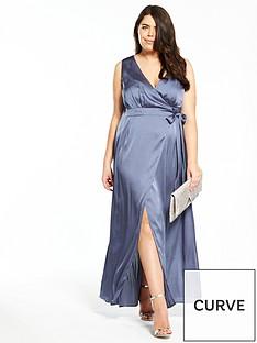little-mistress-curve-beaded-back-maxi-dress-grey