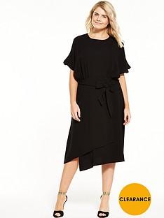 closet-curve-cold-shoulder-dress-with-tie-waist