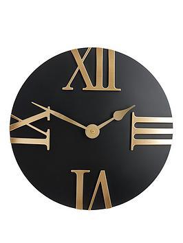 hometime-domed-roman-quarter-dial-wall-clock