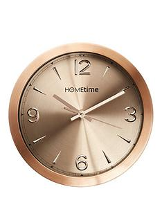Hometime Copper Finish Aluminium Wall Clock