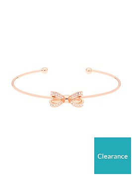 ted-baker-mini-opulent-pave-bow-cuff-rose-gold