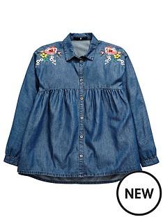 v-by-very-floral-denim-shirt