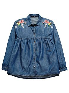 v-by-very-floral-embroidered-denim-shirt