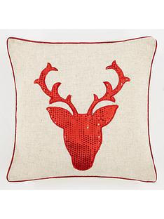 cascade-home-sequin-stag-cushion