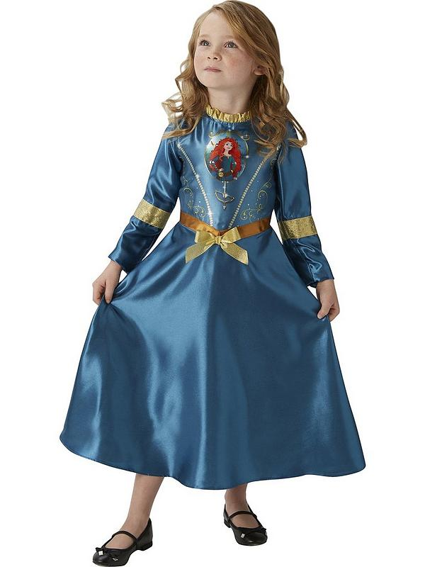 Girls Merida Costume Kids Disney Princess Fancy Dress Fairytale Licensed Dressup