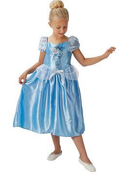 UK Kids Girls Cinderella Princess Dress Up Fairytale Disney Fancy Dress Costume