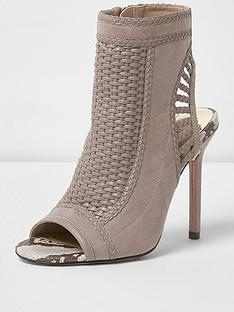 river-island-taupe-wook-shoe-boot