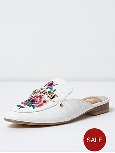 river-island-petal-backless-loafer