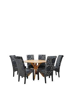 starburst-119-cm-oak-veneer-circular-dining-table-6-oxford-chairs