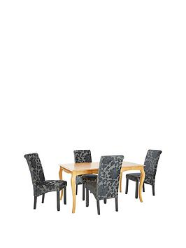 alisha-150-cm-solid-wood-dining-table-4-oxford-chairs