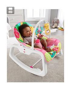 fisher-price-rainforest-infant-to-toddler-rocker-pink