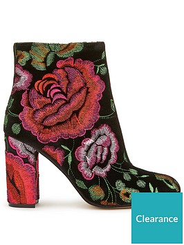 miss-selfridge-miss-selfridge-velvet-rose-embroided-ankle-boot