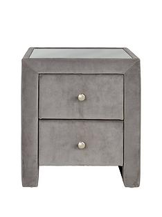 faux suede bedside table