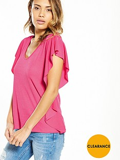 v-by-very-frill-side-detail-top-hot-pink