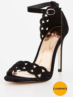 michelle-keegan-laser-cut-suede-heeled-sandal-black