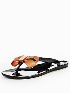 ted-baker-suszie-bow-jelly-flip-flop-blacknbsp