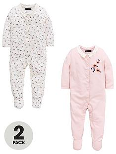 mini-v-by-very-baby-girls-2-pack-floral-frill-sleepsuits