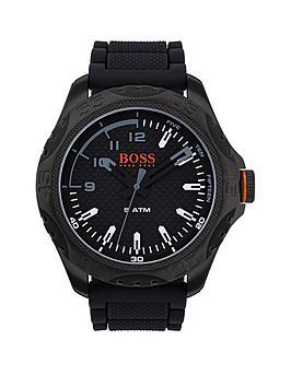 hugo-hugo-boss-orange-honolulu-black-dial-black-silicone-strap-mens-watch