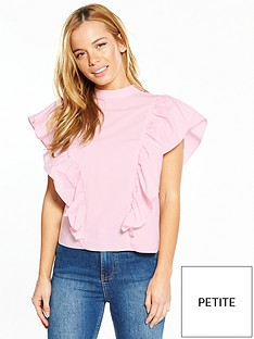 v-by-very-petite-bow-back-poplin-blouse-pink