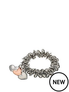 fiorelli-jewellery-costume-triple-heart-charm-scrunchie-bracelet